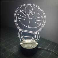 Madera + acrílico 3D Seguridad luces LED de luz de la noche de lámpara de escritorio Doraemon baymax Spiderman buen regalo blanco cálido y blanco fresco