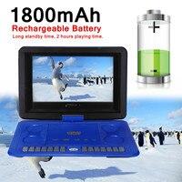 13.8 1800mAh Portable Home TV Program Search Function Car DVD Player Game Remote Control 270 D Screen USB SD Card Anti shock