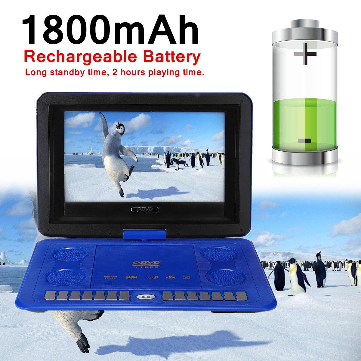 1800 13,8 мАч портативный домашний ТВ программа поиск функция автомобиля dvd-плеер игры пульт дистанционного управления 270 D экран USB SD карта анти-...