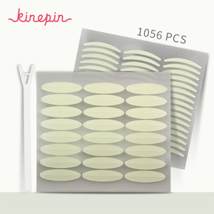 KINEPIN 1056 قطع شريط لاصق للجفون ملصقا غير مرئية جفن لصق شفافة ذاتية اللصق مزدوجة العين الشريط أدوات