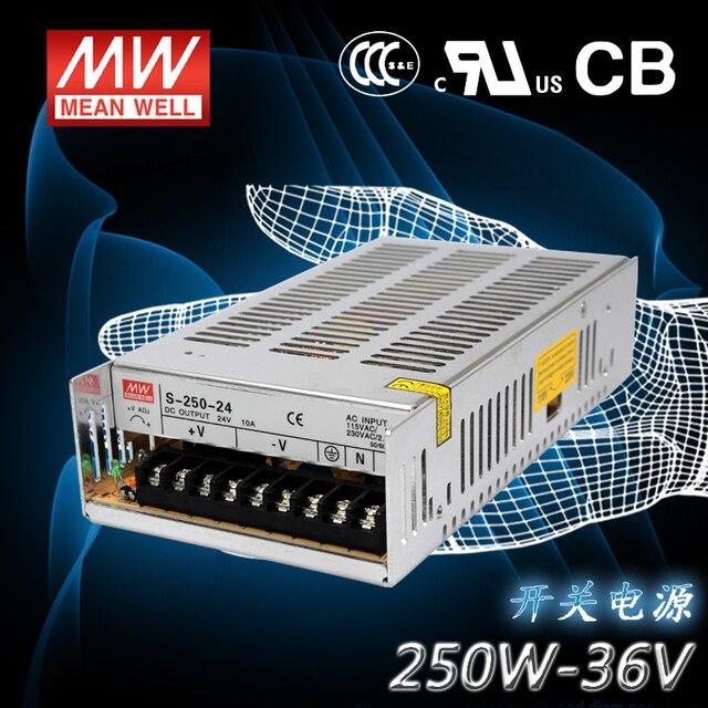 Sortie 36 V 6.9A 250 W alimentation à commutation régulée - S-250-36