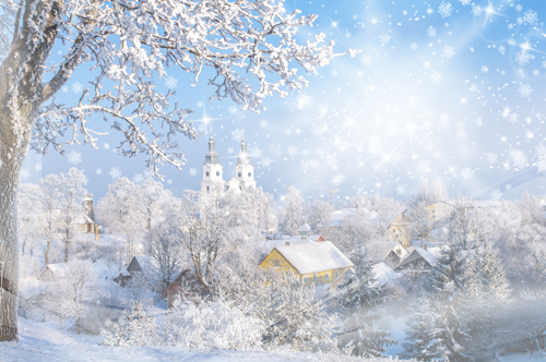 HUAYI winter Christmas Photography Backdrop Scenery Custom Photo Portrait Studios Background snow day backdrop XT4872 600cm 300cm fundo snow footprints house3d baby photography backdrop background lk 1929