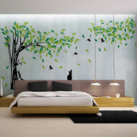Large Green Tree Wall Sticker Vinyl Living Room TV Wall Removable Art Decals Home Decor DIY