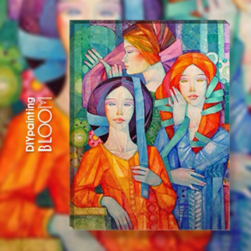 Home Beauty DIY Oil Painting By Numbers Lady Wall Canvas Picture Coloring Paint By Number Brush Drawing Wedding Gift Home Decor
