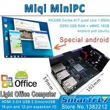 Miqi MiniPC, RK3288 ARM Четырехъядерных Процессоров A17 Развития/демонстрационная плата 1.8 ГГц x4, с открытым исходным кодом Ubuntu, Android HDMI 2 ГБ DDR3 16 GeMMC