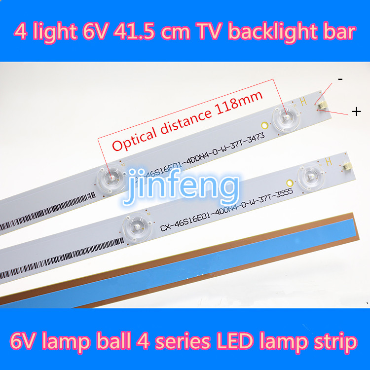 100% new4 light 6V 41.5 cm 4LED 6V TV LCD TV backlight strip 460TA21 6V lens lamp bar