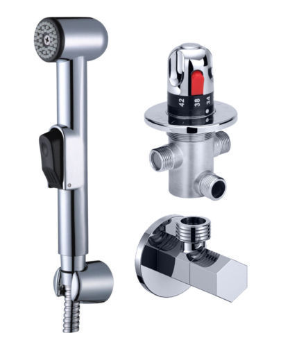Bathroom Thermostatic Mixer Valve Bidet Spray Water Mixing: Free Shipping Thermostatic Mixer Valve Hand Held Spray