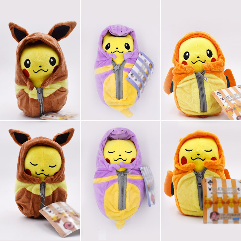 Pikachu Plush Toys Dolls Cosplay Charizard Ekans Eevee Sleeping Bag Soft Stuffed Animal Doll For Christmas Gift Free Shipping