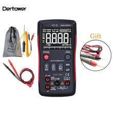 Q1 True-RMS цифровой мультиметр автоматическая кнопка 9999 отсчетов с аналоговым барным графиком AC/DC Амперметр напряжения Ток Ом Транзистор тестер