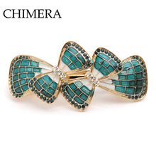 CHIMERA Trendy Bow-knot Hair Barrettes Clips Clamp Pin Elegant Fashion Alloy Crystal Jewelry Accessories for Women Girls