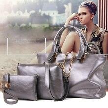 New brand chains top soft leather bag vintage handbag womens medium big tote bags female crossbody