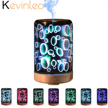 3D Essential Oil Diffuser Lamp Night 100-240V 100ml Light Aroma Ultra-quiet Portable Ultrasonic