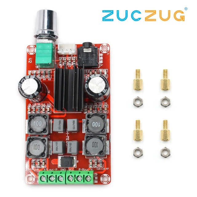 TPA3116D2 2x50W Digital Power Amplifier Board 5V To 24V Dual Channel Stereo AMP