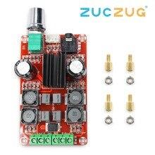 Tpa3116d2 2x50w placa amplificador de potência digital 5v a 24v duplo canal estéreo amp