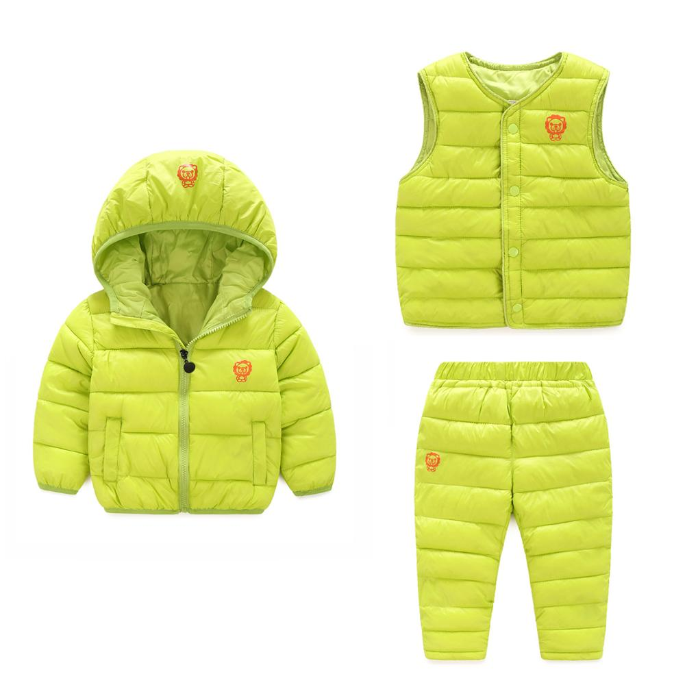 2017 new boys and girls in the children thickening down jacket cotton jacket trousers vest three sets of vest measles immunity status of children in kano nigeria