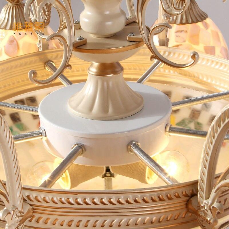 Gold Kronleuchter antike Lampe Wandleuchte Tiffany Light Conch Glas - Innenbeleuchtung - Foto 5