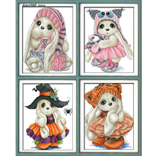 Cross Stitch,Animal of rabbit,Needlework,DIY,cross-stitch kits,embroidery kits, 14ct 16ct 18ct.