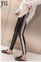 71a4aa99592 Shikoroleva Ladies Leggings Side Glitter Sequins PU Leather Pants Female  High Waist Stretch Jeggings Pants 2XL