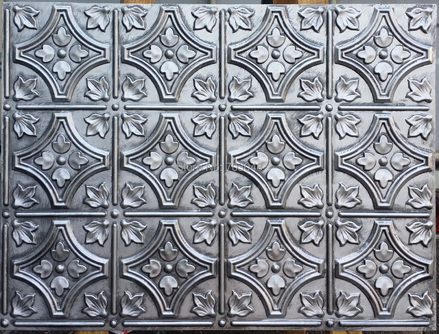 plb10 faux antique tin ceiling tiles 3d embossed backsplash store cafe pub antique decor wall panels - Antique Tin Ceiling Tiles