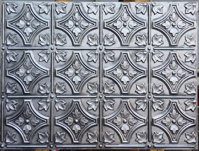 PLB10 Faux Antique Tin Ceiling Tiles 3D Embossed
