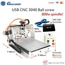 USB Controlador USB CNC3040Z CNC Router CNC 3040 Máquina de Grabado CNC3040 DEL CNC 800 w motor Del Husillo $ number kw VFD 110 V/220 V
