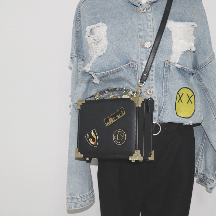 VALENMISA Brand Genuine Leather Women Box Messenger Bag Badge Crossbody Bag Fashion Women Vintage Handbag Luxury Shoulder Bags