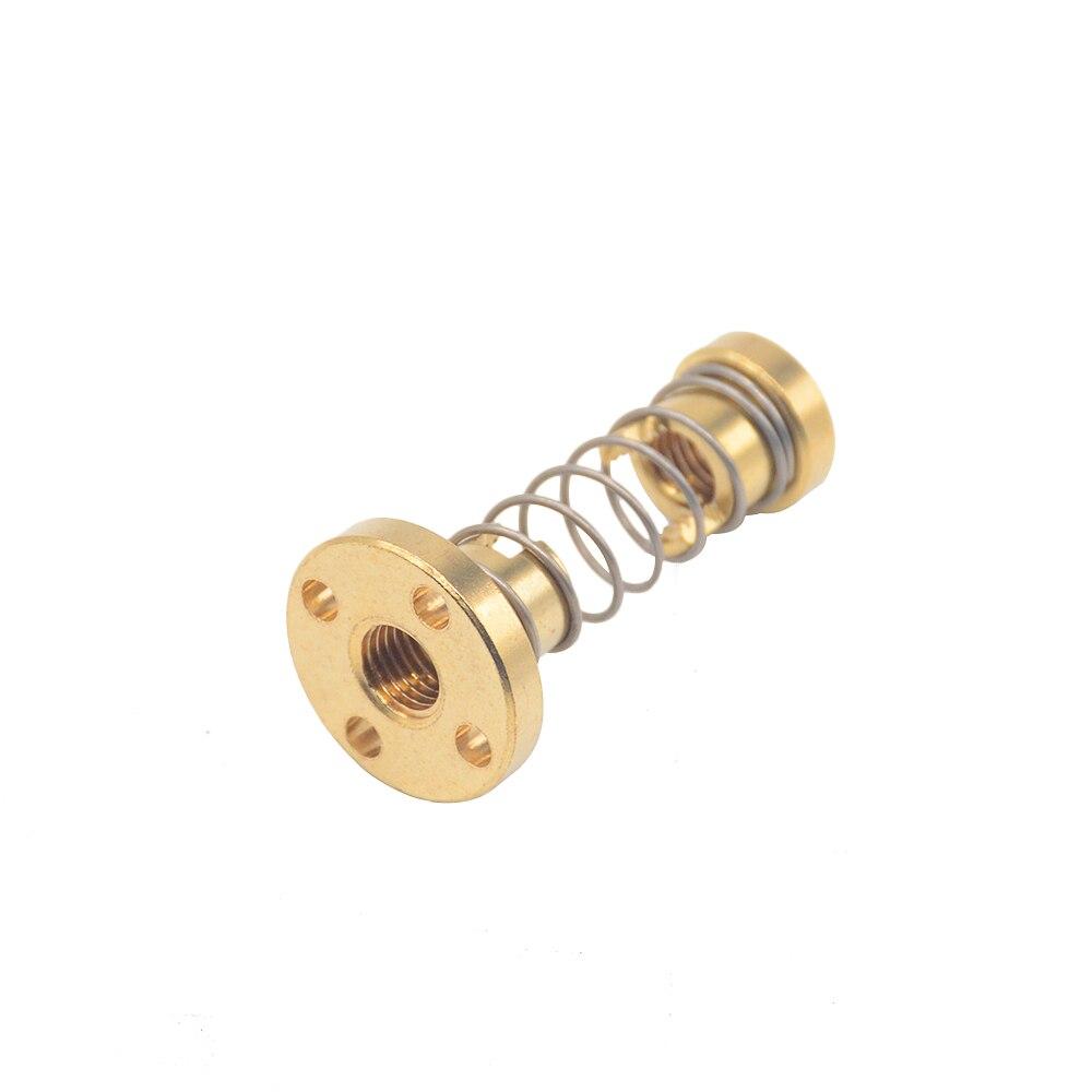 1pc T8 Anti Backlash Spring Loaded Nut Elimination Gap Nut For 8mm Threaded Rod Lead Screws DIY CNC 3D Printer Parts