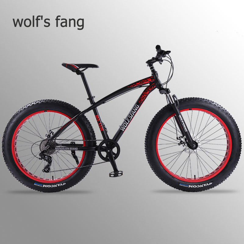 wolf's fang Bicycle Mountain <font><b>26</b></font>*4.0 Bike <font><b>bmx</b></font> 8 speed Bikes Fat bike mtb road bikes new Snow man Bicycles free shipping image