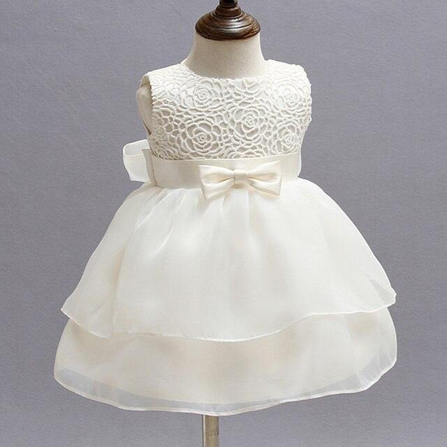 158 21 De Descuentoaliexpresscom Comprar Vestidos De Bautizo Para Niñas Marfil Bebé Niña 1 Año Vestido De Cumpleaños Chifón Niña Vestido De