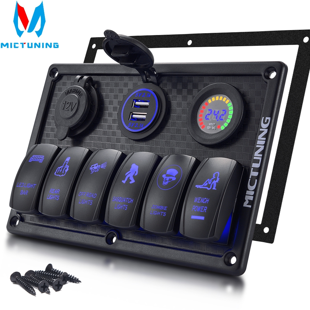 Auto car styling car styling car switch 4 2A 6 Gang Waterproof Car Auto Boat Marine