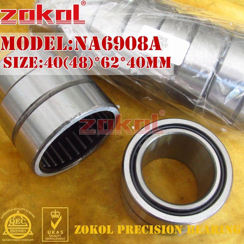 ZOKOL bearing NA6908 A NA6908A Entity ferrule needle roller bearing 40(48)*62*40mm rna4913 heavy duty needle roller bearing entity needle bearing without inner ring 4644913 size 72 90 25