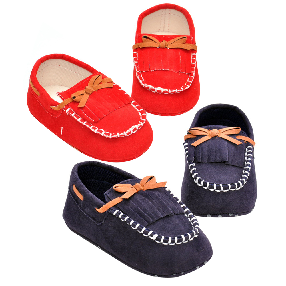 Tassels 2-Color Baby Shoes Newborn Shoes Soft Infants Crib Shoes Sneakers First Walker Soft Sole Non-slip Footwear Crib Shoe