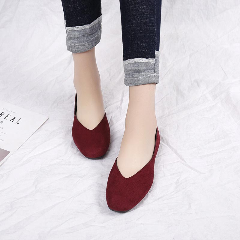 2019 Plus Size 35-42 Women Flats Shoes Woman Spring Loafers Candy Color Slip On Sneakers Ballet Flats Mothers Ladies Shoes Black