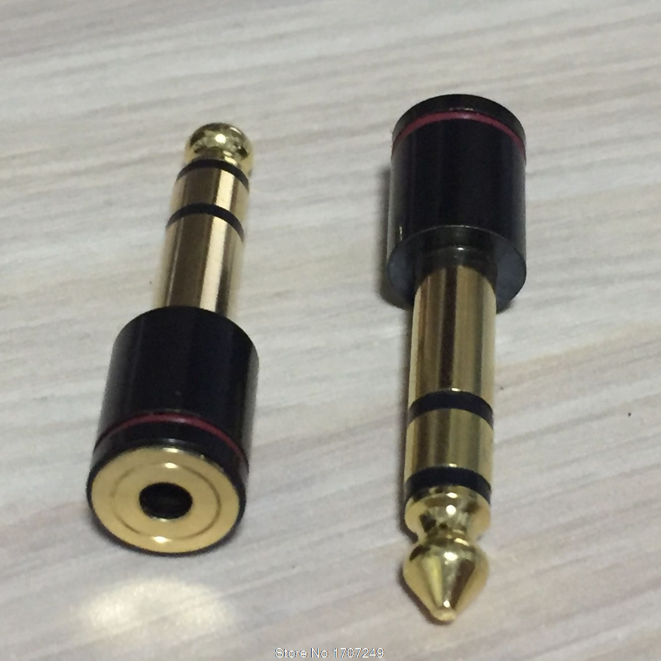 1pcs 6.35mm Male Plug 6.35mm 1/4Male plug to 3.5mm 1/8Female Jack Stereo Headphone Audio Adapter ,TRS 6.5 to 3.5 converter