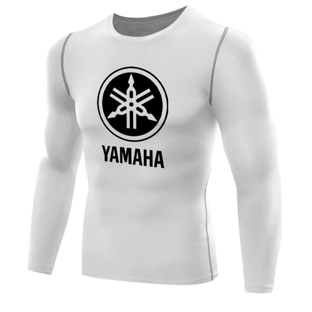 Black yamaha t shirt - Yamaha Shirts For Men Compression Tshirt Long Sleeves Fitness Tops Quick Dry Singlets Boys Tee Base