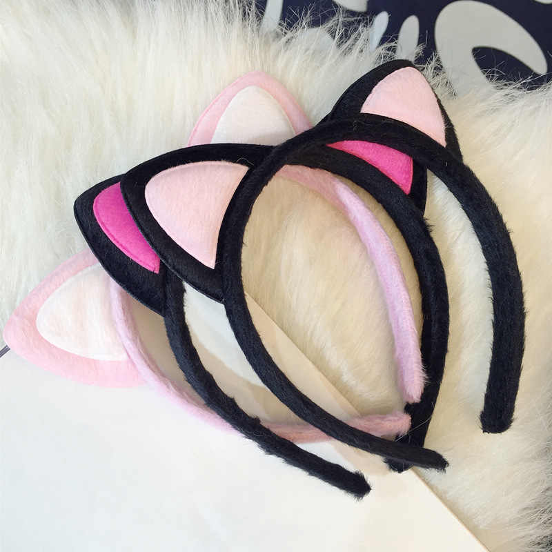 Moda Feminina Curto Pano de Pelúcia de Leopardo Tigre Gato Orelha Faixa de Cabeça Faixa de Cabelo Cosplay Partido Acessórios Para o Cabelo grampos de cabelo HairBand
