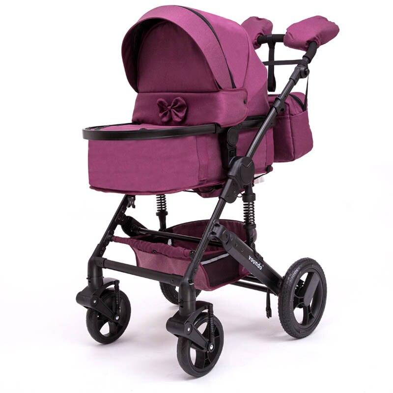 Bambino Voondo2018 passeggino a due vie ad alta-campo ammortizzatore passeggino può essere seduto sul carrello pieghevole