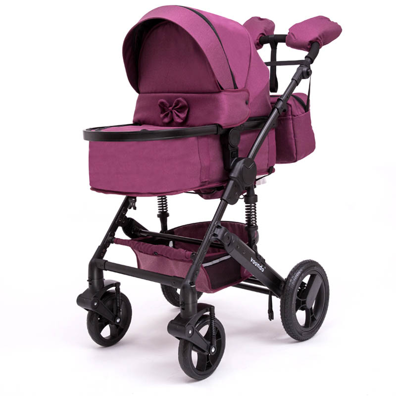 baby Voondo2018 stroller two-way high-field shock absorber stroller can be sitting on the cart foldable купить в Москве 2019