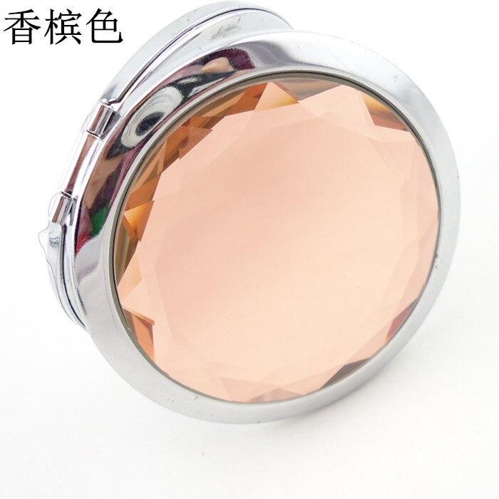Mulher 70mm dobrável espelho de maquiagem espelho