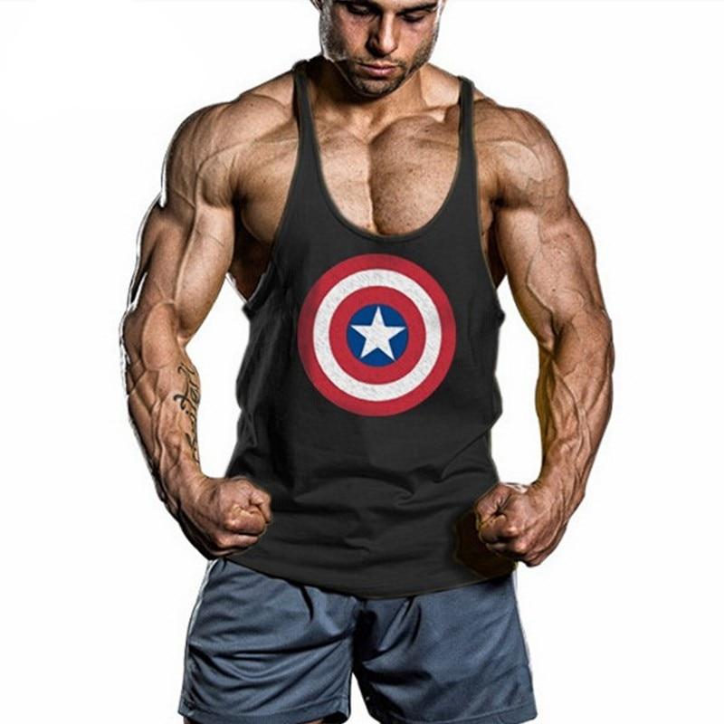 New Summer Singlets Mens   Tank     Top   Stringer Bodybuilding Golds Gymvest Cotton Sportswear Vest