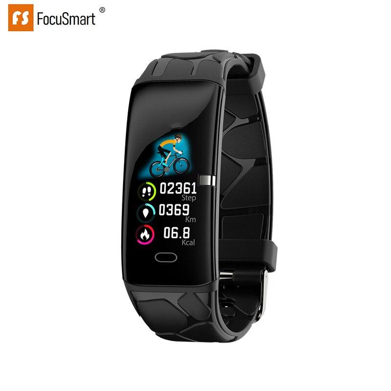 FocuSmart 2019 pulseras inteligentes E58 rastreador de Fitness ECG HRV Monitor de ritmo cardíaco pulsera inteligente de presión arterial para IOS/Android