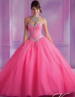 2018 Cheap Quinceanera Gowns Debutante Sweet 16 Princess Deep Purple Pink Panther Coral White Online Ball Gown 15 Anos