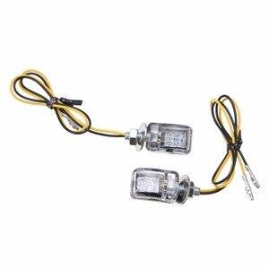 Image 4 - 1Pair 6LED 12V Motorcycle Mini Turn Signal Light Amber Blinker Indicator Little Rectangle Lamp For Cruiser Chopper Touring Dual
