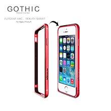 В китае Красный для iPhone 6 6 S Nillkin Gothic Серии Metal бампер Пограничный Случай для iPhone 6 6 S Гиппокамп Пряжка Защитный кадр
