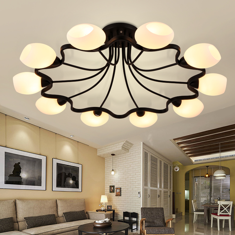Us 69 56 53 Off Led Living Room Chandelier Lighting American Lighting Simple Modern Master Bedroom Idyllic Dining Room Veayas In Chandeliers From