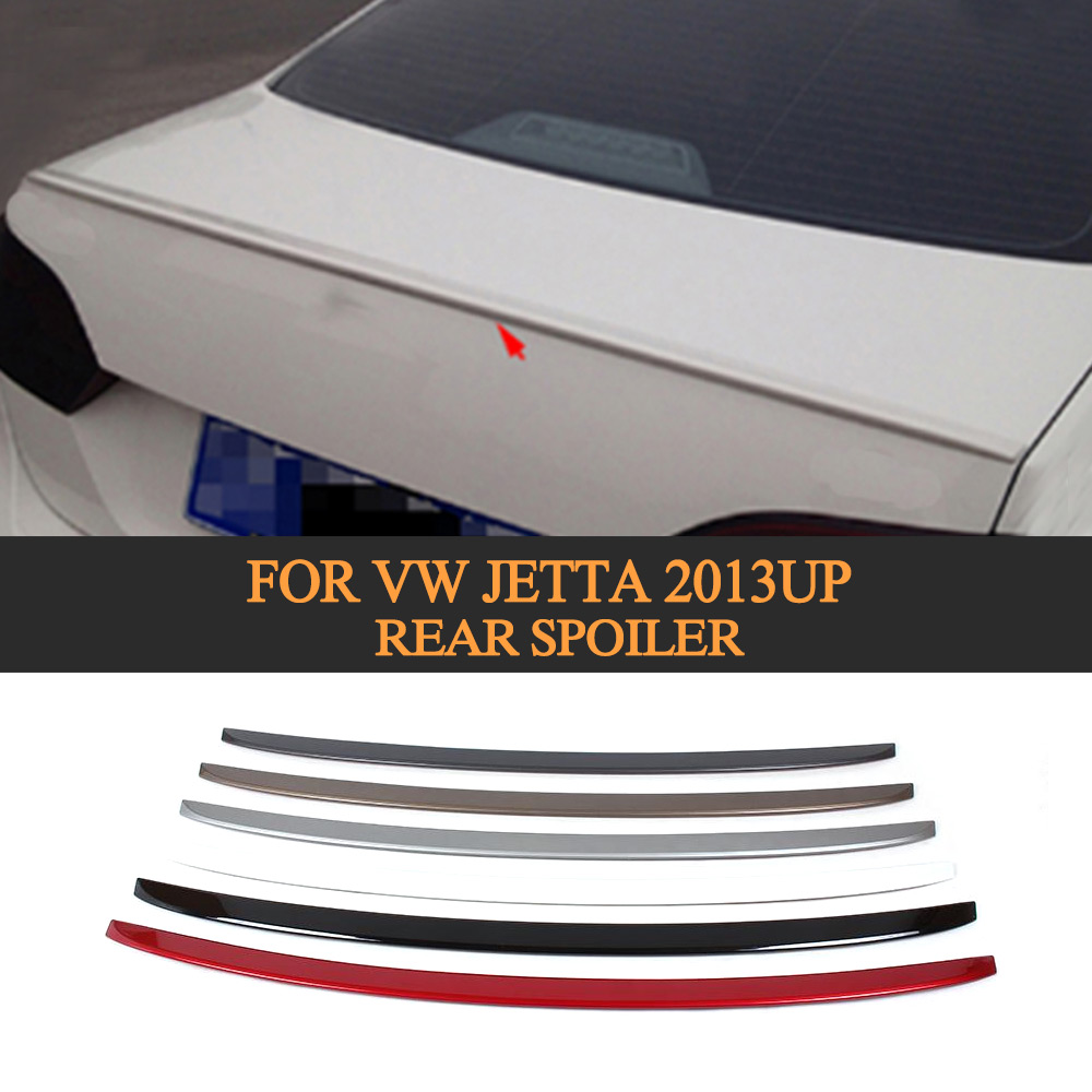 Rear Trunk Lip Spoiler Boot Wing For VW jetta 2013UP red grey black white silver beige ABS
