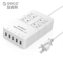 ORICO HPC-4A5U-US-WH путешествия surge protector Розетка с usb power strip IC для Ipad Iphone (белый)