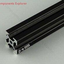 Произвольная резка 1000 мм черный алюминиевый экструзионный профиль, черный цвет