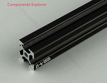 Arbitrary Cutting 1000mm 2020 Black Aluminum Extrusion Profile,Black Color.