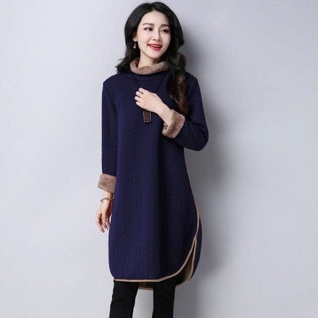 Autumn Winter #Dress Women #Long Sleeve Vintage Thick Robe #fashion #boygrl 1